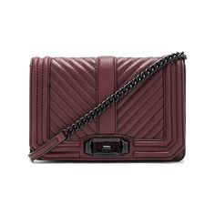 Rebecca Minkoff Chevron Quilted Small Love Crossbody Bag (11.285 RUB) ❤ liked on Polyvore featuring bags, handbags, shoulder bags, leather purses, leather crossbody handbags, leather shoulder bag, man leather shoulder bag and leather hand bags
