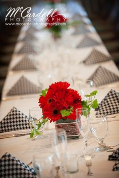 alabama theme wedding with houndstooth reception | comments