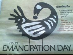 Emancipation Committee icon - Trinidad & Tobago is the only country to have set aside a public holiday on 1 August 1985 to commemorate the abolition of Slaveru