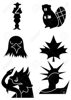 Image result for Canadian symbol silhouettes