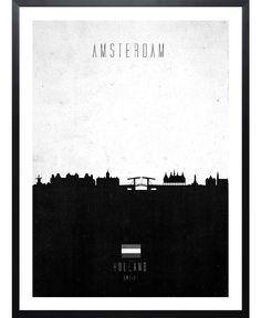 Amsterdam Contemporary Cityscape of Calm The Ham now on JUNIQE!