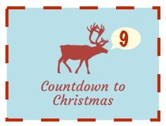 9 Days to Christmas Days To Christmas, Christmas Countdown, Christmas Crafts, Xmas, Festive Crafts, Activities, Negative Space, Sign, Holidays