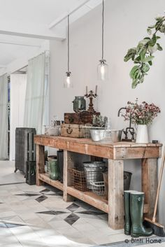 Love the table for our carport- awesome for a potting station or projects!