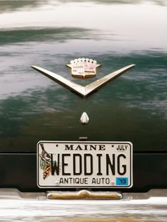 The license plate says it all on this vintage car found at this wedding at Hidden Pond Resort in Kennebunkport, Maine