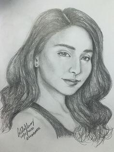 Kathryn Bernardo, Celebrity Drawings, Pencil Portrait, Art Pieces, My Arts, Sketches, Portraits, Celebrities, Artwork