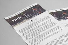 Full Width Resume by Tugcu Design Co. on @creativemarket