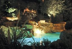Pool, Pond and Waterfall Lighting | Outdoor Accents Lighting