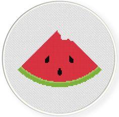 INSTANT DOWNLOAD Stitch Watermelon Bite PDF by DailyCrossStitch