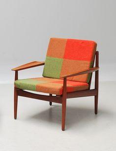 Grete Jalk; Teak Lounge Chair for Glostrup Møbelfabrik, 1950s.