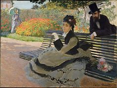 Camille Monet on a Garden Bench, 1873. Claude Monet (French, 1840-1926). Oil on canvas. The Metropolitan Museum of Art, New York.