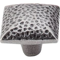 Top Knobs M260 Chateau II 1-3/8 Inch Square Cabinet Knob Cast Iron Cabinet Hardware Knobs Square