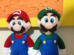 Mario e Luigi feltro felt