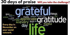 Take the 30 day #thanksgiving challenge! #attitudeofgratitude