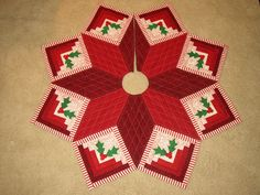 Candy Striped Log Cabin Tree Skirt