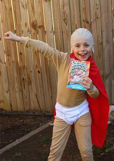 Book Character Costume Captain Underpants Costume  sc 1 st  Pinterest : captain underpants costume ideas  - Germanpascual.Com