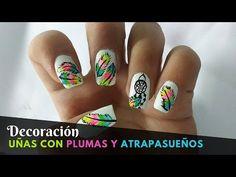Diseños de Uñas con Pluma y Atrapasueños , YouTube