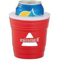 The Party Cup drink insulator. Classic party cup design. Foam insulation drink holder. Insulators vary slightly in density, color, size & weight due to mold process which may prevent precise & uniform imprint. Imprint may break up. No half-tones.