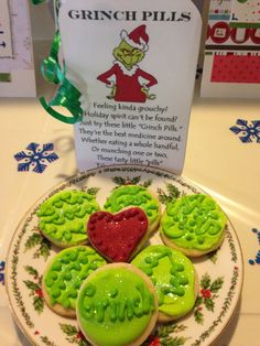 """Grinch pills"" that will take the Grinch out of you and you will find a heart in the bottom of the jar."