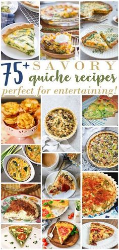 For the Love of Food: Savory Quiche Recipes Perfect for Entertaining! Best Breakfast Recipes, Brunch Recipes, Dinner Recipes, Brunch Ideas, Entree Recipes, Breakfast Ideas, Pasta Recipes, Crockpot Recipes, Soup Recipes