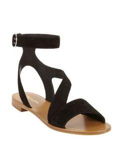 PRADA Asymmetric-strap Flat Sandals