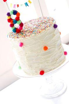 Pom Pom Birthday Cake