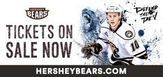 Tickets are now on sale for the 2015-2016 Hershey Bears Season!  Time to Defend the Den at Giant Center!  Visit HersheyBears.com to purchase tickets!
