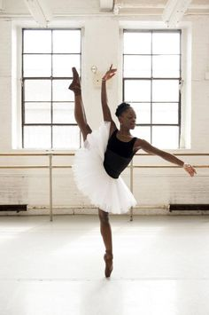 Michaela DePrince Ballerina for DTH. My inspiration. I could watch videos of her dance for hours! ;)