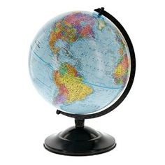 """Amazon.com: 12"""" Globe With Blue Ocean Shading - Educational Raised Relief Political Globe - 2015 Country Lines: Toys & Games"""