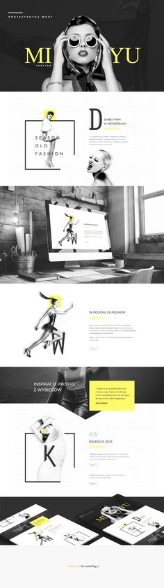 ideas fashion editorial design layout black white for 2019 Website Layout, Cv Website, Website Ideas, Website Design Inspiration, Best Website Design, Website Designs, Fashion Inspiration, Minimal Web Design, Web Ui Design