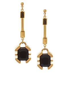 Gold tone drops Whistles Taylor Statement Earrings