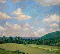 Peinture a l'Huile Original, Berkshires en Juillet, Paysage Americain Impressionniste Plein Air wickstromstudio