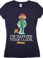 Ladies Happier Than I Look Boober T-Shirt