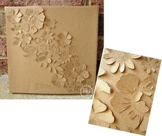 Kraft Paper. Sponging or coloring the edges of the flowers would be an interesting effect.