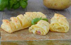 Fagottini di sfoglia patate prosciutto e formaggio