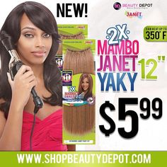 """THE JANET COLLECTION 2X MAMBO JANET YAKY 12"""" IS ON IT'S WAY! This hair is apart of the new PERM YAKY trend of crochet. Natural Feeling synthetic hair, pre-looped with Selfit Loop technology coming from one of the best hair companies on the market, Janet Collection! @janetcollection This hair comes with 39 loops in one pack which proves its a 2X VALUE PACK. We recommend 5-7 packs of this hair for a full look. Coming soon is the 12"""" so stay tuned for the release of the THIS HAIR. Available at…"""