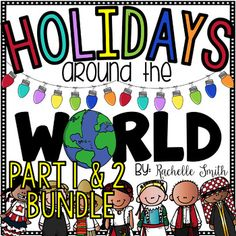Travel near and far to see a glimpse of Holidays Around the World. This is a great way to integrate the Christmas theme into your curriculum! There are 13 countries to learn about and a craftivity and/or game for each country.