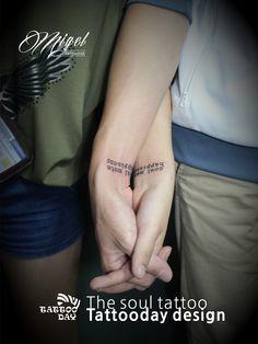 홍대 손목 커플타투 :D  www.ta2day.com