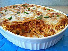 Hun... What's for Dinner?: Pizza Baked Spaghetti