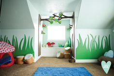 Creative Playroom! Woodland. Nature. Forest. Via DesignLovesDetail.com