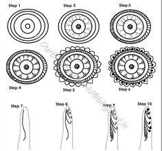 How To Apply Henna Mehndi Designs – Step by Step Tutorial Arabic Henna, Henna Mehndi, Mehndi Art, Henna Art, Mehendi, Indian Henna, Beginner Henna Designs, Henna Designs Easy, Henna Tattoo Designs