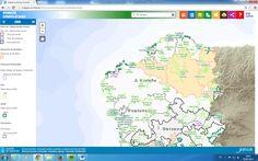 Visor geográfico web sobre los espacios naturales y la biodiversidad de Galicia.