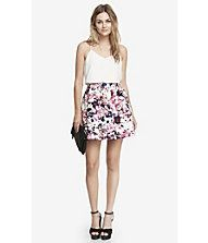 FLORAL PLAID HIGH WAIST FULL SKIRT from EXPRESS Style 7736315
