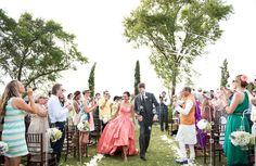 Wonderful pink gown. Photo Fiona Kelly Photography #wedding #weddingdress #pinkdress #littlebookforbrides