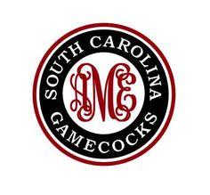 South Carolina Gamecocks Monogram instant download for cutting machines - SVG DXF EPS ps studio3 studio