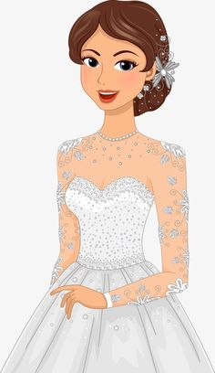 Vector art photos PNG and Vector Easy Drawing Images, Art Drawings For Kids, Disney Drawings, Bride Clipart, Wedding Couple Cartoon, Cute Images For Dp, Girly M, Indian Wedding Photos, Wedding Illustration