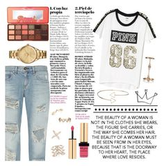 """Dressed Up Casual"" by hilol123450 ❤ liked on Polyvore featuring New Look, rag & bone, Victoria's Secret, Topshop, Too Faced Cosmetics, Yves Saint Laurent and Lacoste"