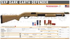 Winchester Repeating Arms - SXP Dark Earth Defender Military Weapons, Weapons Guns, Shotguns, Firearms, Earth Defender, Tactical Shotgun, Airsoft Gear, 9mm Pistol, Concept Weapons