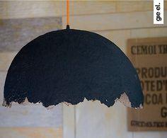 """Lampa wisząca """"Eko"""", czarno-pomarańczowa"""