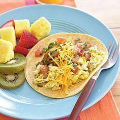12 Breakfasts Under 250 Calories | Quick Breakfast Burritos | MyRecipes.com