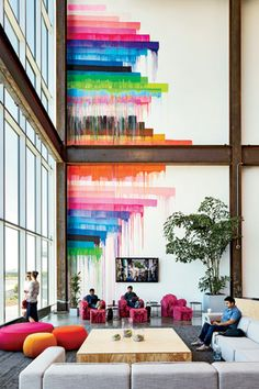 Colors brighten - added dimension to the room. I like it!